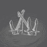 anchor Illustrations1 tiré par la main Photo stock