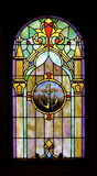 Anchor Image Stained Glass-Full Pane:  Isolated Stock Images