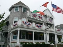 Anchor Inn Beach House Provincetown Cape Cod. Overlooking Cape Cod Bay, this quaint gabled inn is a 6-minute walk from the Pilgrim Monument and a mile from Stock Photography