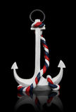 Anchor Isolated over black royalty free stock images