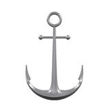 Anchor Isolated. On white background. 3D render Royalty Free Stock Image