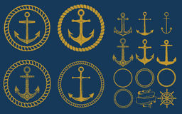 Anchor labels set Royalty Free Stock Photos