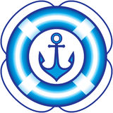 Anchor and Lifebuoy – Sailing items illustration stock illustration