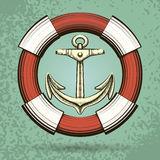 Anchor and Lifebuoy Royalty Free Stock Image