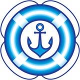 Anchor and Lifebuoy – Sailing items illustration Stock Photo