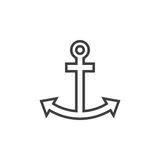 Anchor line icon, outline  logo illustration, linear picto. Gram isolated on white Stock Images