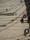Anchor Lines in Jersey, Channel Islands Stock Photo