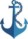 Anchor logo. Illustration art of a anchor logo with isolated background Stock Photos