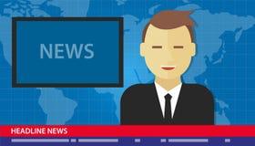 Anchor man news headline breaking tv Stock Images