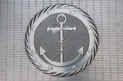 Anchor metallic plate Royalty Free Stock Photos
