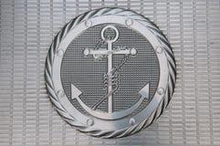 Anchor metallic plate Royalty Free Stock Photos