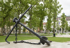 Anchor Monument  Congress Square Park Ljubljana Slovenia Stock Images