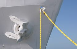 Anchor And Mooring Lines Stock Image
