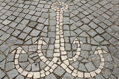 Anchor from mosaics Stock Photos