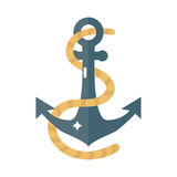 Anchor nautical marine sailing vector. Stock Photos