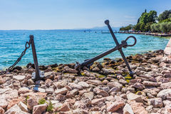 Anchor near lake Royalty Free Stock Image