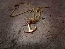 Anchor with necklace Stock Images
