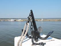 Anchor in Nida Marina, Lithuania Stock Photo