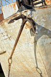 Anchor on the old boat Royalty Free Stock Photography