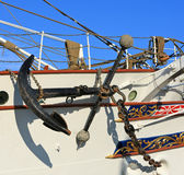 Anchor of old sailing ship Stock Photos