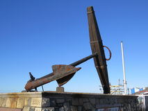 Anchor. Old ships anchor displayed on the seafront at Southsea, UK Royalty Free Stock Photos