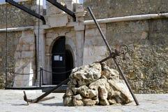 An anchor outside the historical Forte da Ponda da Bandeira in Lagos Stock Photography