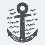 Anchor Pacific ocean Royalty Free Stock Photo