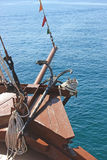 Anchor on the passenger ferry Stock Photos