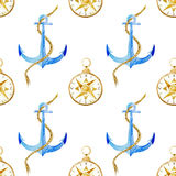 Anchor pattern Royalty Free Stock Photos