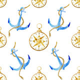 Anchor pattern Royalty Free Stock Image