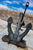 Anchor in the port of Gijon Royalty Free Stock Images