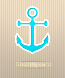 Anchor postcard illustration Stock Photography