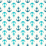 Anchor retro seamless pattern. Retro seamless pattern with anchors. Marine background Royalty Free Stock Photo