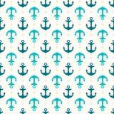 Anchor retro seamless pattern Royalty Free Stock Photo