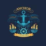 Anchor retro style Royalty Free Stock Photos