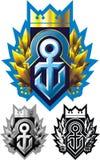 Anchor, ribbon and crown Royalty Free Stock Photo