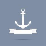 Anchor with ribbon. Royalty Free Stock Photo