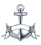 Anchor with ribbons Royalty Free Stock Image