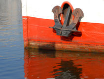 Anchor on river boat Stock Photography