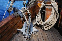 Anchor and rope Royalty Free Stock Image