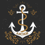 Anchor with rope Royalty Free Stock Photography