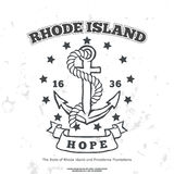 Anchor with rope and hope. Design elements. T-shirt print Royalty Free Stock Image