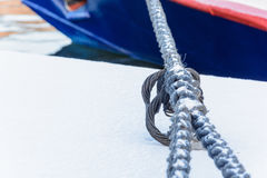 Anchor rope with a knot Stock Photos