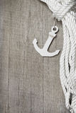 Anchor and rope. Maritime background - Harbour - anchor and rope Royalty Free Stock Images