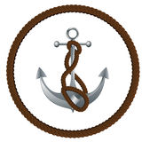 Anchor with rope Stock Image