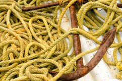 Anchor and Rope Royalty Free Stock Photos