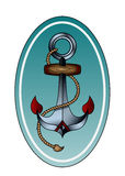 Anchor with rope Royalty Free Stock Image