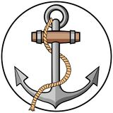 Anchor with Rope Stock Photo