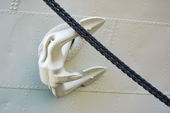 Anchor and rope Stock Image