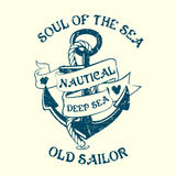 Anchor Sailor Tee Design Stock Image